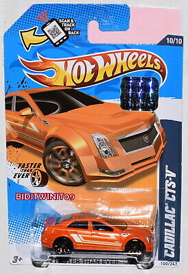 HOT WHEELS 2012 FASTER THAN EVER CADILLAC CTS-V ORANGE FACTORY SEALED