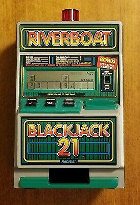 Radica - Riverboat Blackjack 21 - Slot Machine / Savings Bank Working Condition