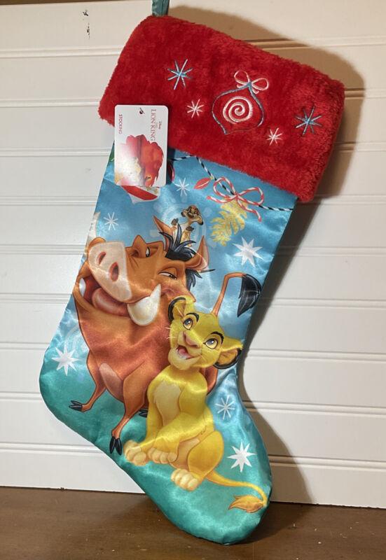 VERY RARE DISNEY lion king christmas holiday stocking pumbaa, timone, simba