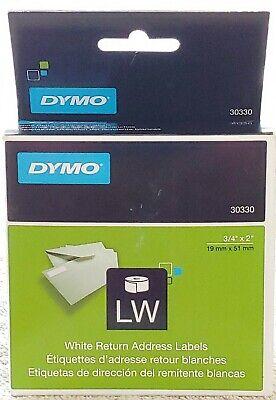 Dymo 30330 White Return Address Labels 34 X 2 500 Labels Ea Box New In Box