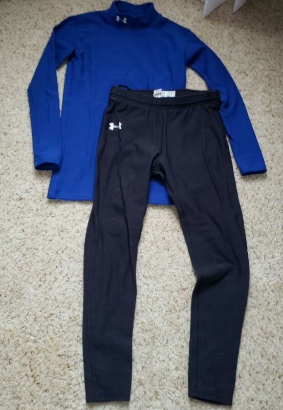 Under armour cold gear youth large top and bottoms