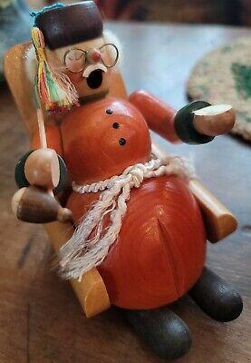Vintage ERZGEBIRGE Smoker EARLY Carved Grandfather German Democratic Republic