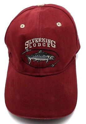 Silverking Lodge  Ak  Red Adjustable Cap   Hat