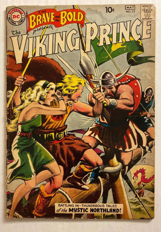 BRAVE AND THE BOLD #23 (DC 1959) VG 4.0 VIKING PRINCE ORIGIN! 1st SOLO BOOK!