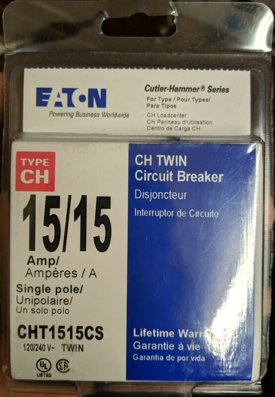 Eaton NSB CHT1515CS Plug In 1P 15A 120/240V - New!!!