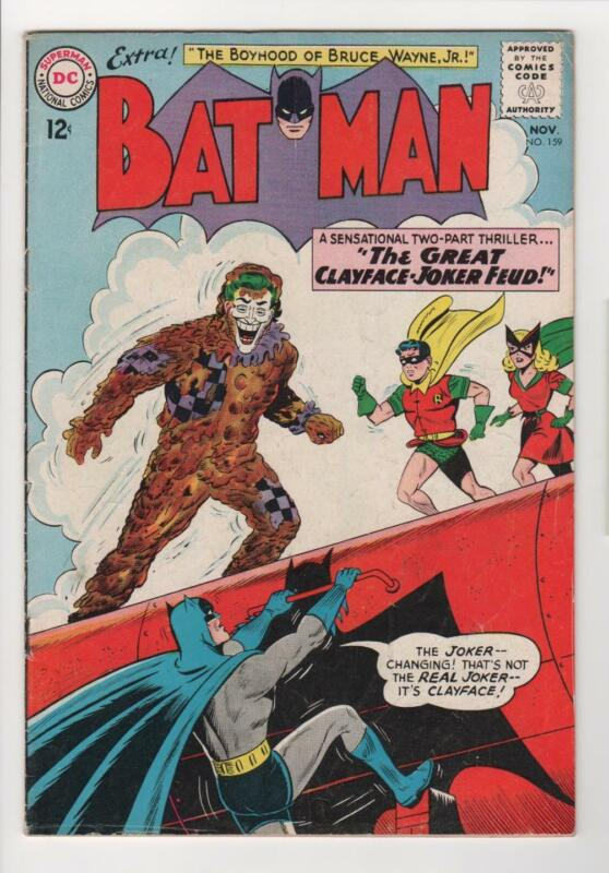 BATMAN no. 159 JOKER cover story 1963 DC Comics Vg/Fine 5.0 0912