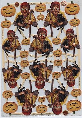 7273, Hexen + schwarze Katzen + Kürbisse, Halloween GLIMMER (Halloween Schwarze Katze Bilder)