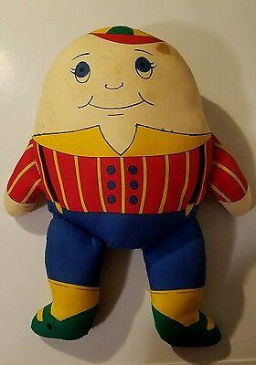 Vintage Humpty Dumpty pillow stuffed plush handmade doll