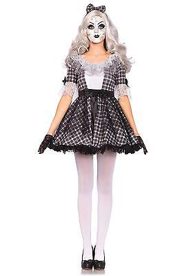 Porcelain Doll Halloween Costumes (LEG AVENUE PRETTY PORCELAIN DOLL COSTUME HALLOWEEN SEXY BROKEN ZOMBIE)