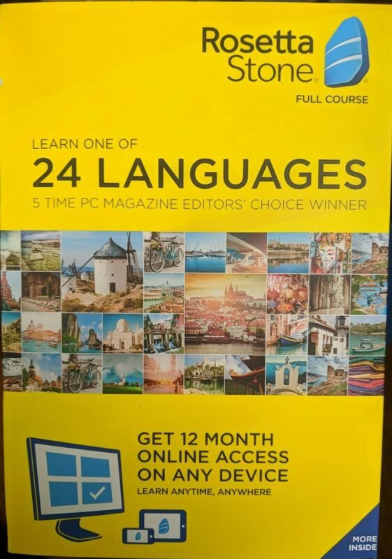 Rosetta Stone: Learn a Language for 12 Months Choose One Of 24 Languages - New!!