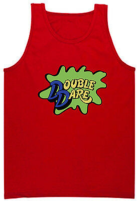 RED Double Dare Logo Nickelodeon Costume jersey shirt TANK-TOP - Double Dare Costume