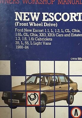 Owners workshop manual , New Escort  front wheel drive 1980 - 1984