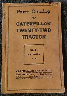 Caterpillar Twenty Two Tractor Parts Catalog Sn 1j1