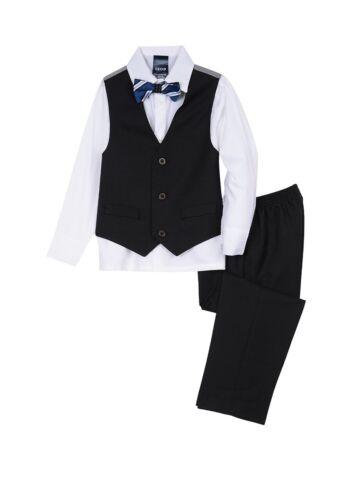 IZOD Toddler Boy 3T Black 4-piece Vest Set NWT
