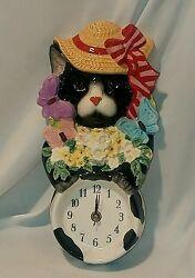 Decorative Wall Clock GIFT Art Decor Cat Kitty Stylish - Pacific Rim Imports