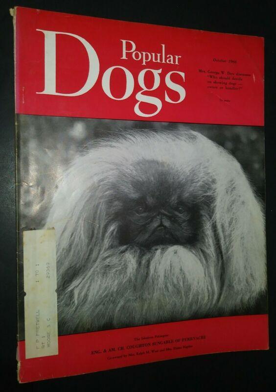 Popular Dogs Illustrated Magazine Pekingese Cover + Champion Photos Oct. 1966