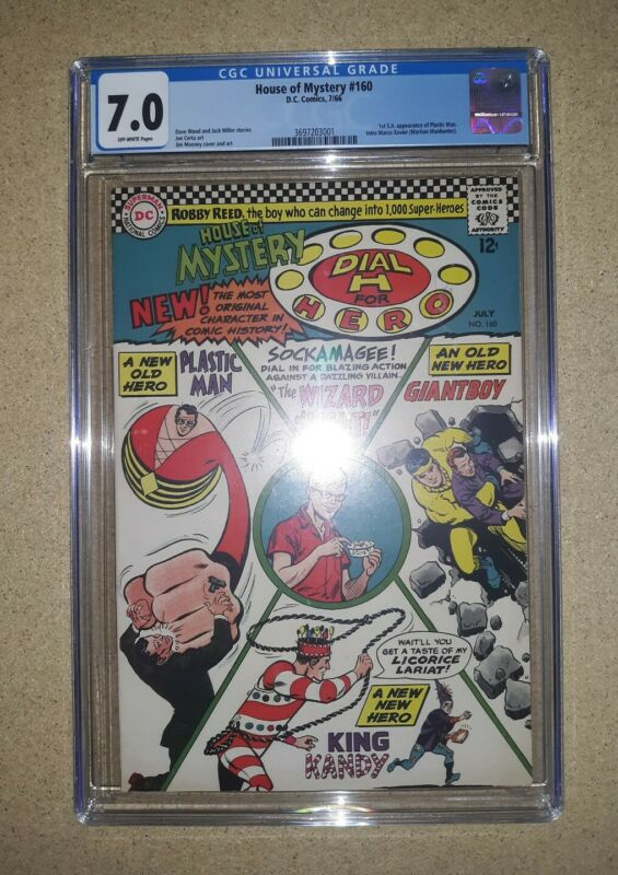 House Of Mystery 160 CGC 7.0 DC Comics 1966 First Silver Age Plastic Man