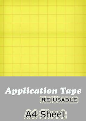 Application Transfer Tape - A4 Sheets - Reusable Clear Vinyl - Cricut Cameo