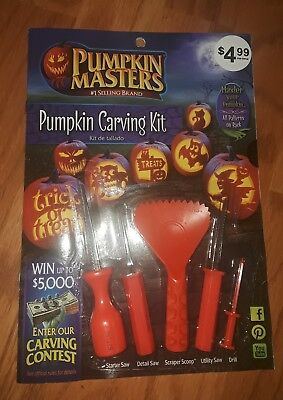 Pumpkin or Melon Carving Kit 5 Tools 10 Patterns Halloween Pumpkin - Melon Carving Halloween