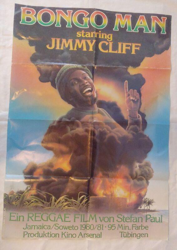 VINTAGE RASTAFARIAN REGGAE BONGO MAN JIMMY CLIFF MOVIE POSTER