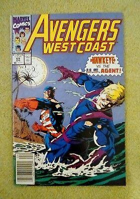 Avengers West Coast #69 (Apr 1991, Marvel) 9.0 VF/NM