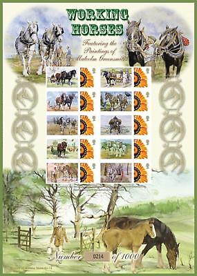 SOLD OUT!!  Bradbury Smilers Sheet Working Horses Limit Edition 0775/ 1000