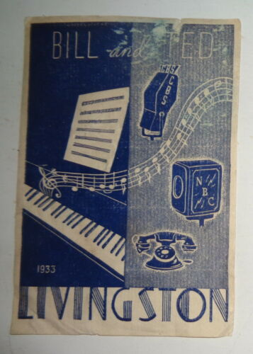 Bill and Ted Livingston Ex Libris Bookplate - 1933