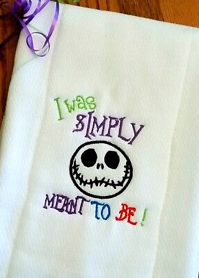 Nightmare Before Christmas Baby Clothes (NIGHTMARE BEFORE CHRISTMAS BABY BURP CLOTH I Was Simply MEANT To Be Shower)