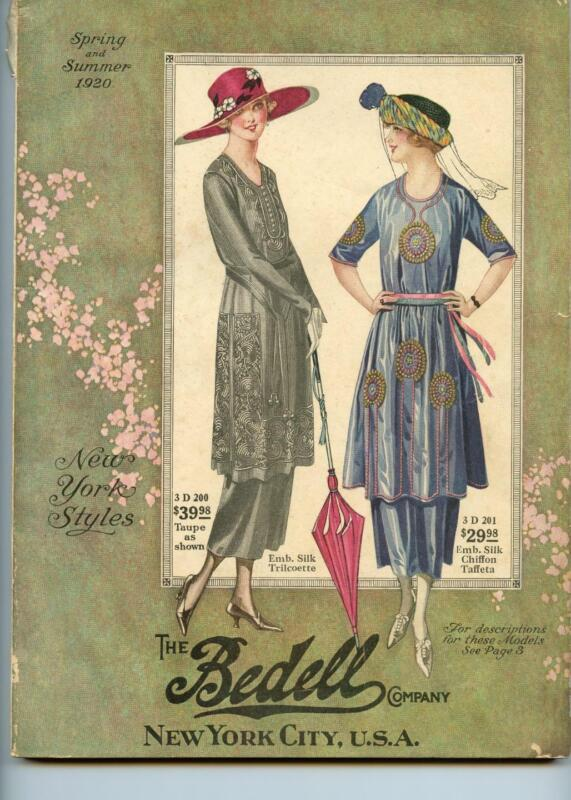 1920 SPRING/SUMMER BEDELL CO NYC FASHION CATALOG 210 PG*CORSETS*HATS*ACCESSORIES