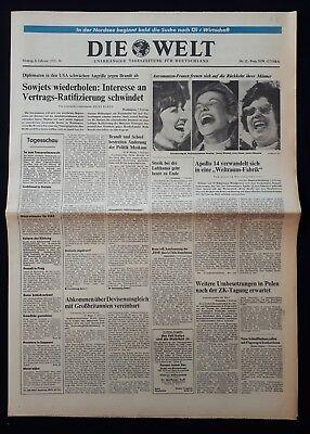 DIE WELT TAGESZEITUNG vom * 8. Februar 1971* (RAUMFAHRT, Apollo 14) B 125