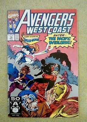 Avengers West Coast #70 (May 1991, Marvel) 8.5 VF+ (Spider-Woman)