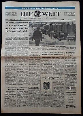 DIE WELT TAGESZEITUNG vom * 17. November 1969 * (RAUMFAHRT, Apollo 12) B 96