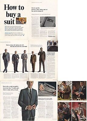 """1965 Michaels-Stern """"How to Buy a Suit"""" 1960's Fashion Mens Suit's PRINT AD"""