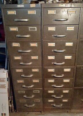 Vintage Steel Age 8 Drawer Steel File Cabinet