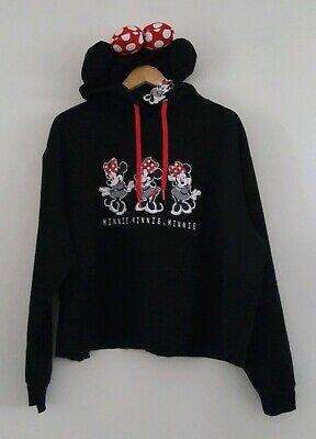DISNEY MINNIE MOUSE Shorter Crop Hoodie Sweater Ladies Womens Jumper Primark