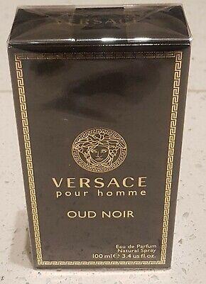 Versace Pour Homme Oud Noir Eau de Parfum 100ml - Brand New Boxed & Sealed