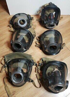6 Scott Air Mask Respirator Scba 4 Med 1 Lg 1