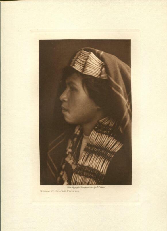 1912 Original Photogravure | Edward Curtis | Quinault Female Profile