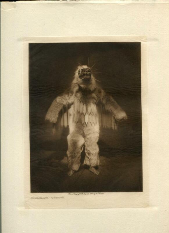 1914 Original Photogravure   Edward Curtis   Hamasilahl Qagyuhl