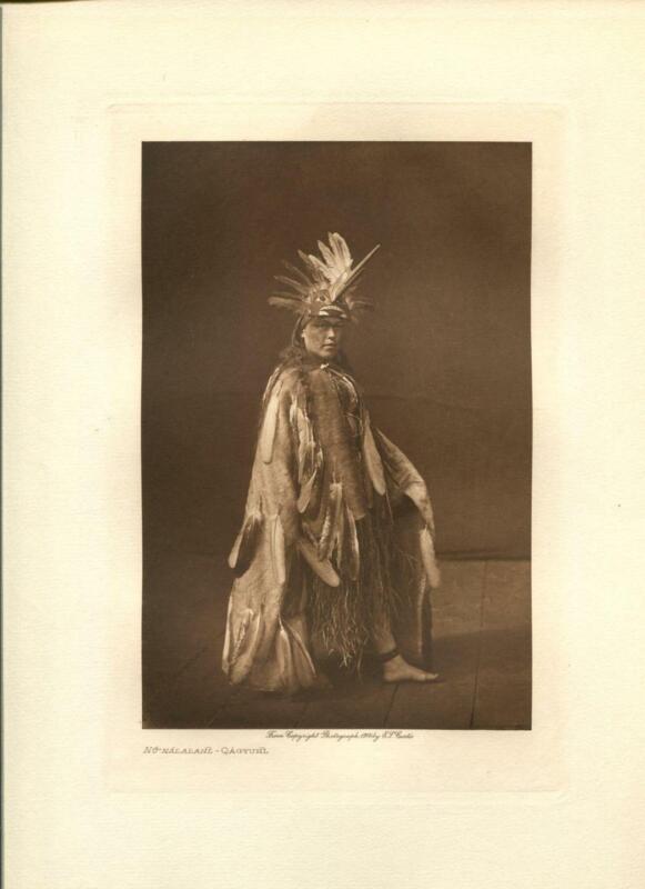 1914 Original Photogravure | Edward Curtis | Nunalalahl Qagyuhl