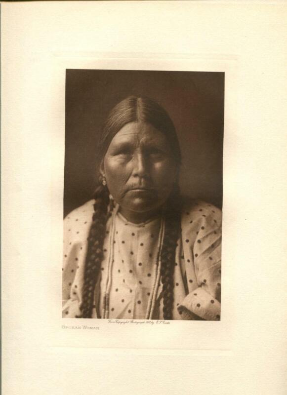 1910 Original Photogravure | Edward Curtis | Spokan Woman