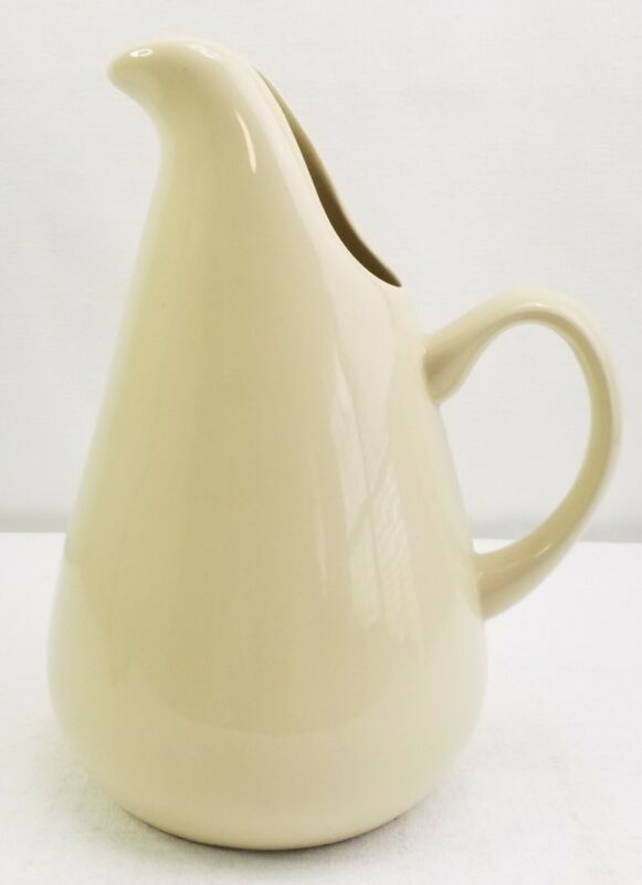 Russel Wright Oneida Steubenville Mid-Century Modern Pitcher Ivory 90 oz 11""