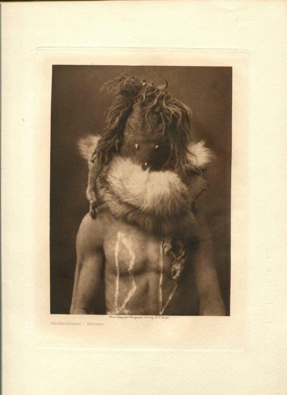 1904 Original Photogravure | Navaho |  Edward Curtis | 5 1/2 x 7 1/2