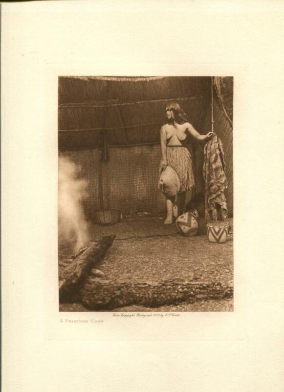 1912 Original Photogravure | Edward Curtis | A Primitive Camp