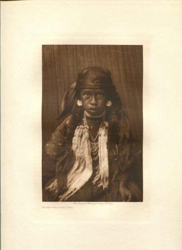 1910 Original Photogravure | Edward Curtis | Young Kalispel Gril