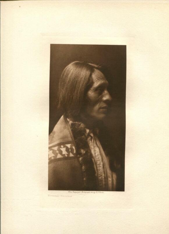 1910 Original Photogravure | Edward Curtis | Kutenai Profile