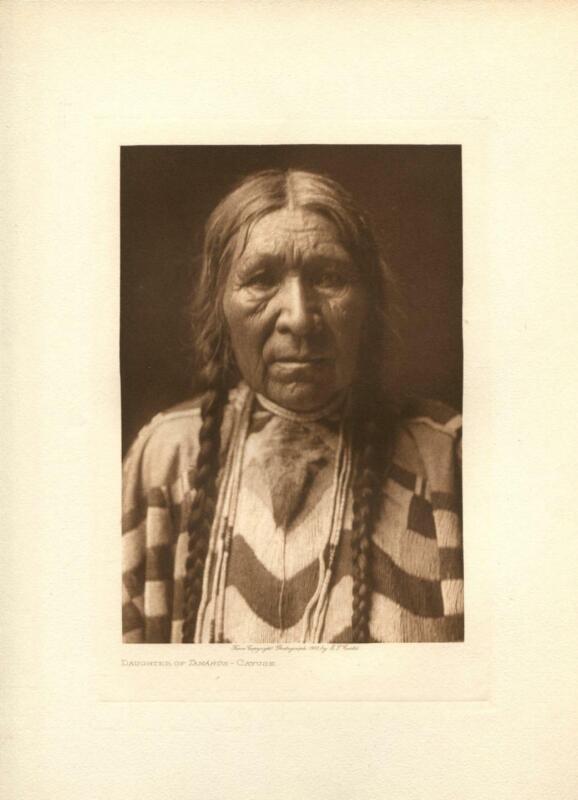 1910 Original Photogravure | Edward Curtis | Daughter of Tamahus Cayus