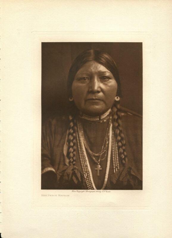 1910 Original Photogravure | Edward Curtis | Nez Perce Matron