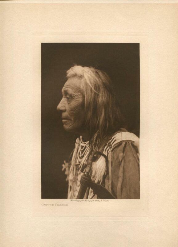1910 Original Photogravure | Edward Curtis | Cayus Profile