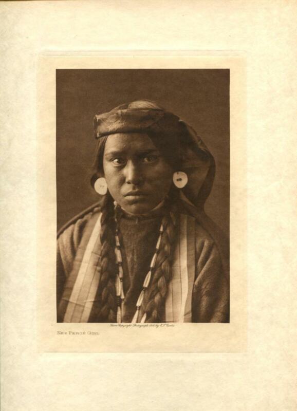 1910 Original Photogravure   Edward Curtis   Nez Perce Girl